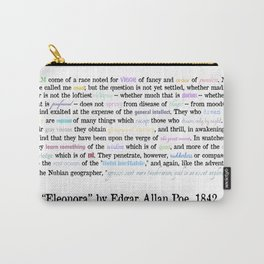 Poe Quote in Rainbow & Black Carry-All Pouch