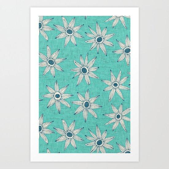 sema mint blue Art Print