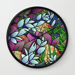 Floral Abstract Artwork G464 Wall Clock