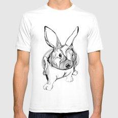 white rabbit White Mens Fitted Tee MEDIUM