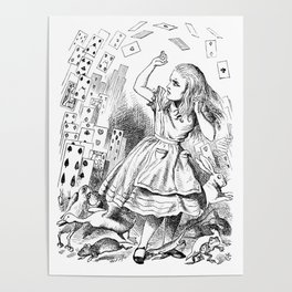 Alice's card attack Poster