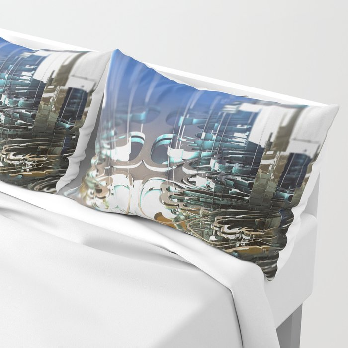Clock Temple of technology Pillow Sham