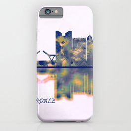 Fort Lauderdale Skyline iPhone Case