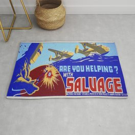 Vintage poster - Are You Helping with Salvage? Rug