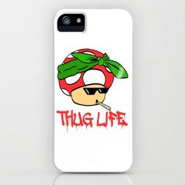 "A Cool Thug Life Tee For Gangster ""Mushroom Thug Life"" T-shirt Design Scarf Smoking Cigarette Smoke iPhone Case"