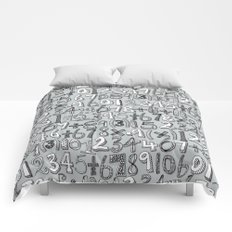 math doodle silver Comforters
