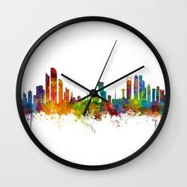 Abu Dhabi Skyline Wall Clock