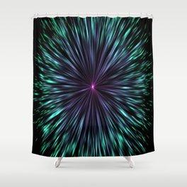 Inward Imploder Shower Curtain