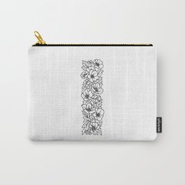 Floral Type - Letter I Carry-All Pouch