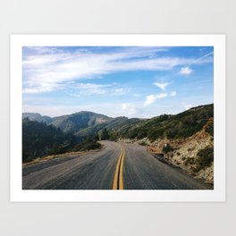 Fairfax-Bolinas Road Art Print