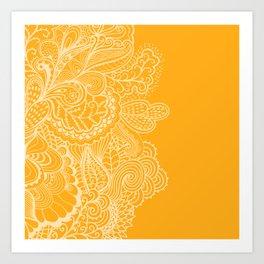 Marigold Mehndi Art Print