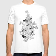 6AM Mens Fitted Tee MEDIUM White
