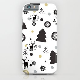 Deer Snow Rustic Winter Christmas iPhone Case