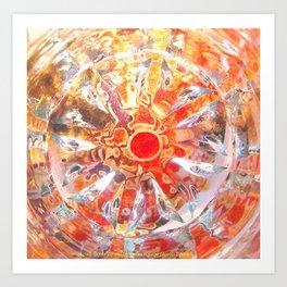 Aztec Solar Wheel Art Print