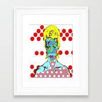 david bowie Framed Art Prints featuring Bowie by Ricky Sencion