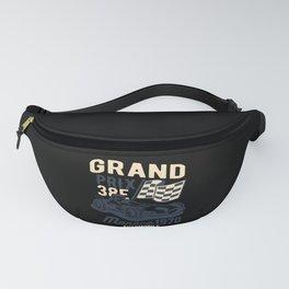 Grand Prix Automobile Pit Crew Go-Kart Car Racer Fanny Pack