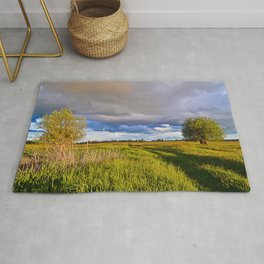 Mystic Cloud Spectacle over the Fields  Rug