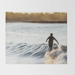 Noosa Longboarder Throw Blanket