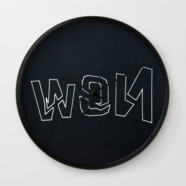 Laser Screen Printing - NOW Wall Clock