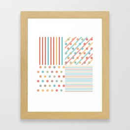 Simple saturated pattern Framed Art Print