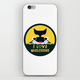 I love Whalesdays iPhone Skin