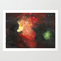 cosmic Art Prints featuring Cosmic by Bleriot