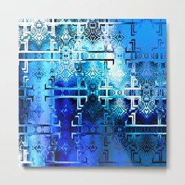 1001 Lights Pattern (azure-lapis-sky) Metal Print