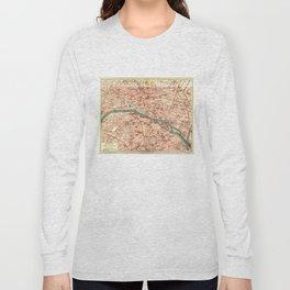 Vintage Map of Paris France (1910) Long Sleeve T-shirt