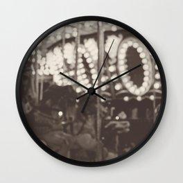Fuzzy Carousel - B&W Wall Clock