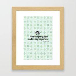 irish proverb Framed Art Print