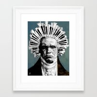 beethoven Framed Art Prints featuring Beethoven by Ed Pires