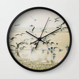 My heart beats in a million gulls Wall Clock