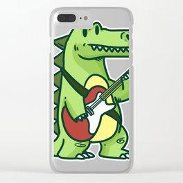 Guitar crocodile Clear iPhone Case