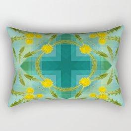 Dandelions in the sky Rectangular Pillow