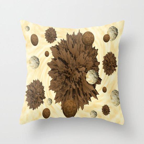 Chocolate Asteroids Throw Pillow