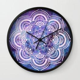 Galaxy Mandala Purple Lavender Blue Wall Clock