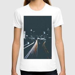 Atlanta Georgie Skyline at Night T-shirt