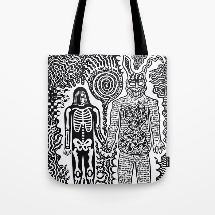 I was in a skeleton suit holding your hand... then I woke up / In honour of Donnie Darko Tote Bag