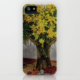 Wattle Bouquet iPhone Case