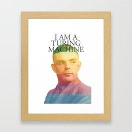I am a Turing Machine Framed Art Print