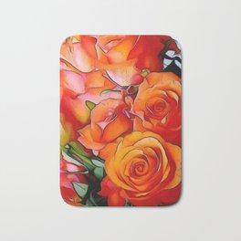 Orange Roses Bath Mat