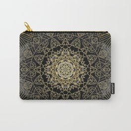 Bohemian Gold Brushed Mandala design Carry-All Pouch