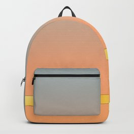 Gray/Peach Gradient with Gold Band Backpack