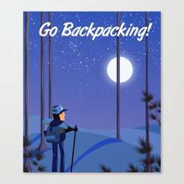 Go Backpacking! Canvas Print