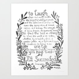 To Laugh Often and Much Art Print