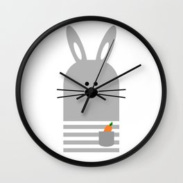 BUNNY WITH A CARROT Wall Clock