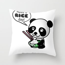 Have A Rice Day Throw Pillow