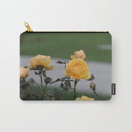 Yellow Rose Bush Carry-All Pouch