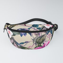 Pattern antique botanical flowers Fanny Pack