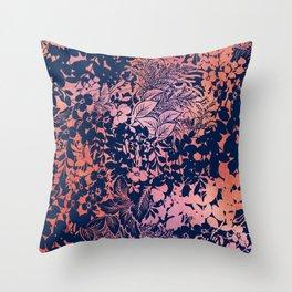 blanket of foliage in warm tones Throw Pillow
